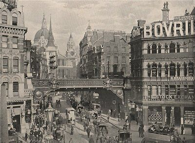 Ludgate Circus. London 1896 old antique vintage print picture