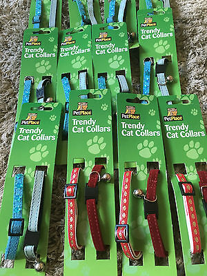 Cat Collars Sparkle With Bells Pack Of Two New Free Postage