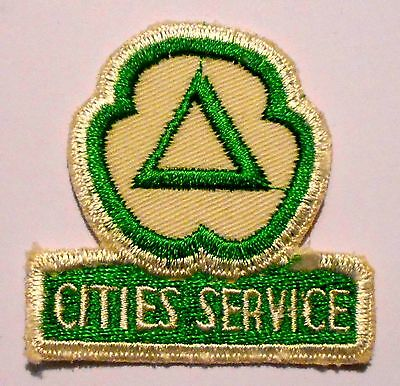 Cities Service Gasoline Patch Embroidered Oil 2-1/2 inches  Vintage