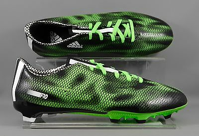 Adidas B35993 F10 FG Firm Ground adults football boots - Black/Green