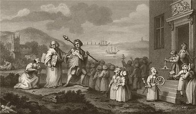 'The Foundlings'. After William HOGARTH 1833 old antique vintage print picture