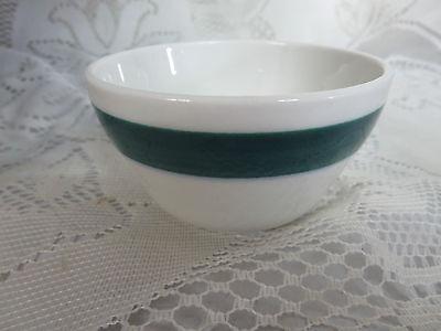 "Vintage Shenango Green Band China Diner Hotel Restaurant 4"" Bowl"