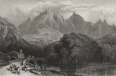 View of Sintra. Portugal 1886 old antique vintage print picture