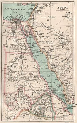 Egypt, the Red Sea & Nubia. BARTHOLOMEW 1886 old antique map plan chart