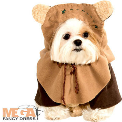 Ewok Dog Fancy Dress Star Wars Rebel Film Movie Scifi Puppy Pet Costume Outfit