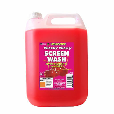Silverhook CHERRY Scent Car Windscreen Screen Wash Concentrate Cleaner 5L