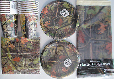 HUNTING CAMO - CEG Birthday Party Supply Set Pack Kit for 16