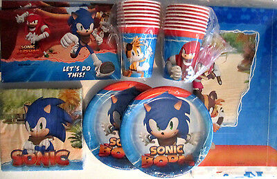 SONIC BOOM ! Sonic The Hedgehog Birthday Party Supply Pack Kit w/ Invitations