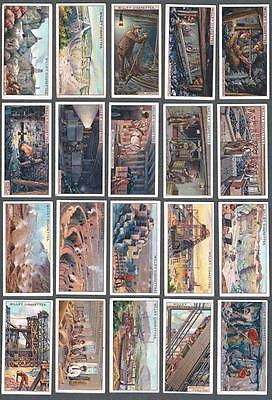 1916 Wills's Cigarettes Mining Tobacco Cards Complete Set of 50