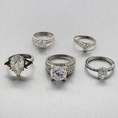 Vintage Sterling Silver Mixed Ring Lot of 5 #3