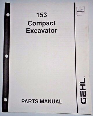 gehl 353 373 compact excavator illustrated master parts list manual instant download form no 918039 revision h