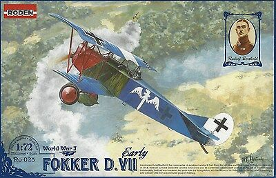 RODEN 025 1:72 Fokker D.VII early