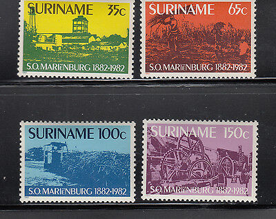 Suriname 1982 Sugar Train Sc 606-609 complete mint never hinged