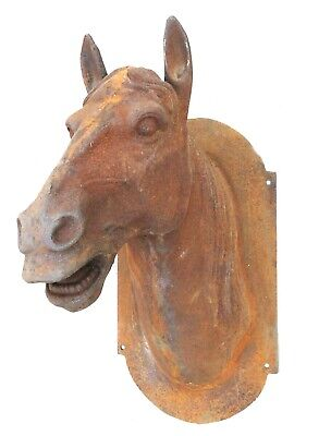 Cast Iron Horse Head Trade Sign Antique Style New Heavy Big French Europe
