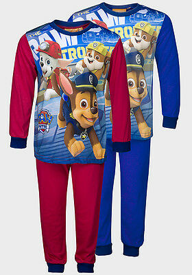 Official Boys Paw Patrol Blue & Red Pyjama Pj Trouser Set Age 2 3 4 5 6 7 8
