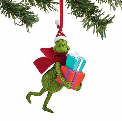 Dr. Seuss Grinchmas Shopping The Grinch with Presents Christmas Ornament 4052412