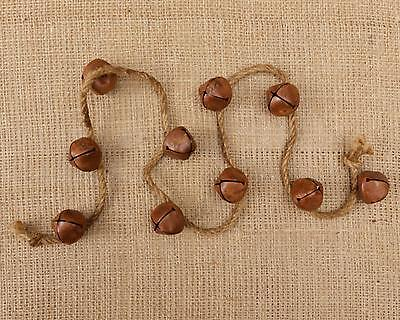 Country rusty bell garland / 36 inch long