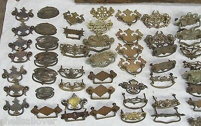 50  Vintage Assorted  Brass  Drawer Pulls 3""