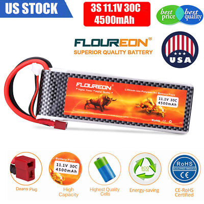 3S 11.1V 4500mAh 30C JST Plug LiPo Battery Pack RC BX Car Truggy Airplane Truck