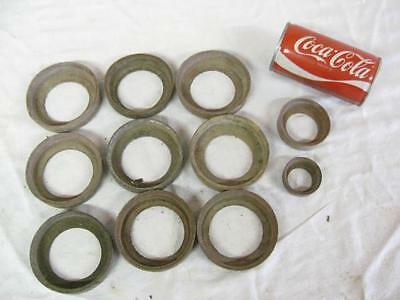 "12 New Vintage Water Well Piston Pump Windmill Leathers 1-1/2"" to 3-1/2"""