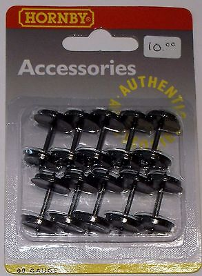 New!!! Oo Scale-Hornby Railway - Replacement Metal Disc Wheels/axle Set #r8264