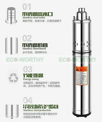 """ECO 4"""" (100mm) Submersible Bore 0.75HP Water Pump Deep Well 240V Stainless Steel"""