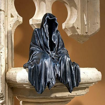 Ghoulish Hooded Monk Sculpture Gothic Creeper Shelf Sitter Halloween Decor