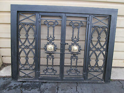 56718 Fireplace Mantle Iron w/ Brass Screen  QUALITY