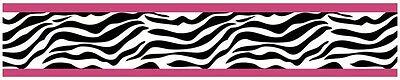 Sweet Jojo Hot Pink & Zebra Print Baby Kid Wall Paper Border Room Wallcovering