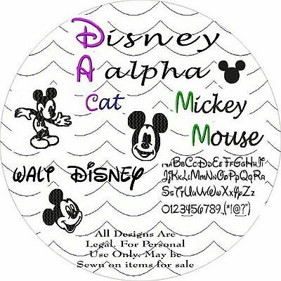 Designs Embroidery - Alpha Mickey