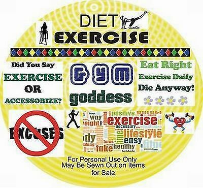Designs Embroidery - EXERCISE - DIET