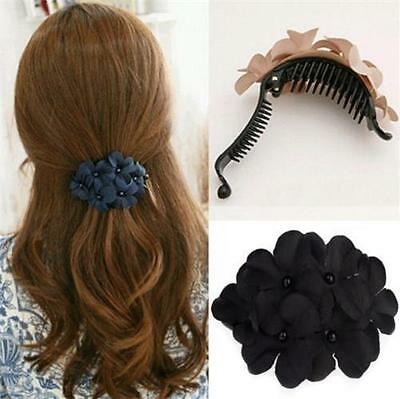 Fashion Women's Crystal Flower Rhinestone Hair Pins Hairpin Clip Barrette