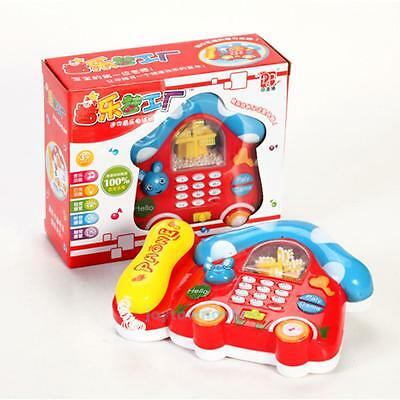 Newborn Baby Kids Mushroom Music Phone Educational Early Learning Music Toy Gift