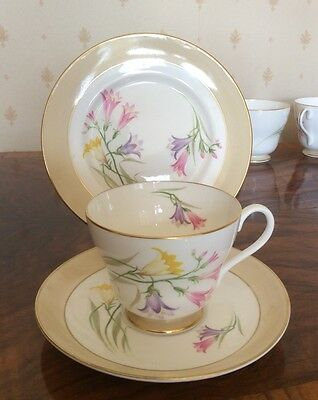 Shelley China Pottery : 'Freesia' 14166' Cup, Saucer, and Side Plate Trio