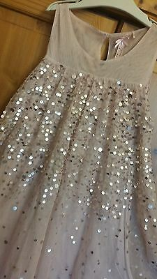 girls lovely next party dress,big sparkly sequins all-over,light pink,size 10 y