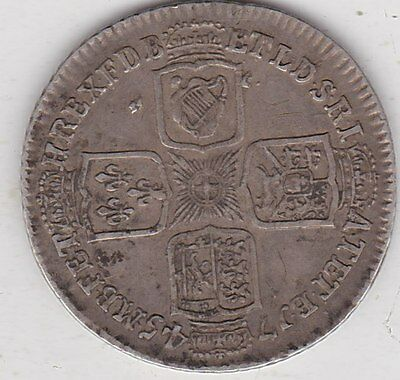 1745 Lima George Ii Shilling In Very Fine Condition