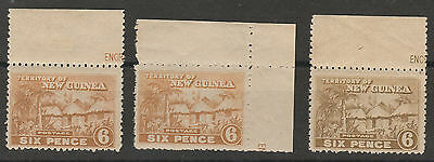 New Guinea 1925 Huts 6D Mnh ** All 3 Colours