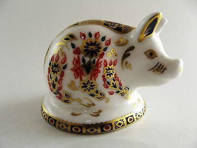 Royal Crown Derby Paperweight The Piglet Ref 218/3