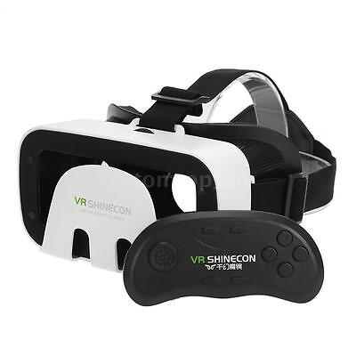 Virtual Reality 3D VR Box Game Glasses for iphone Samsung w/ Remote Control A5J6
