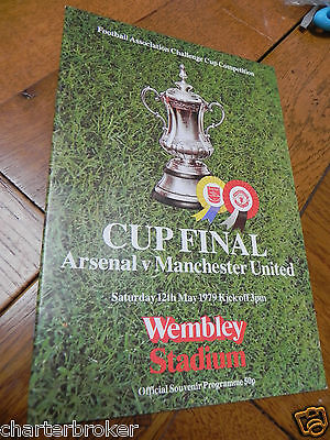 *near Mint* Fa Cup Final Programme 1979 Arsenal V Manchester United Wembley