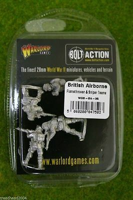 Bolt Action British Airborne FLAMETHROWER & SNIPER TEAMS Warlord Games