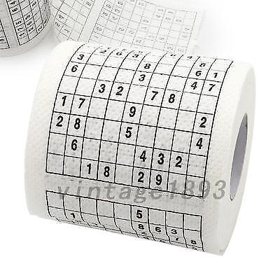 Novelty Sudoku Su Printed Tissue Paper Toilet Roll Paper Puzzle Game