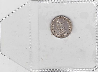1836 William Iiii Four Pence In Near Very Fine Condition