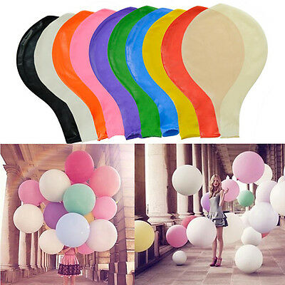 "2/5/10pcs 36"" 3ft Giant Latex Balloons Christening Weddings Childrens Birthdays"