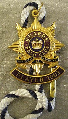 GUARDS POLO CLUB PLAYER 2013 ENAMEL Badge with Cord