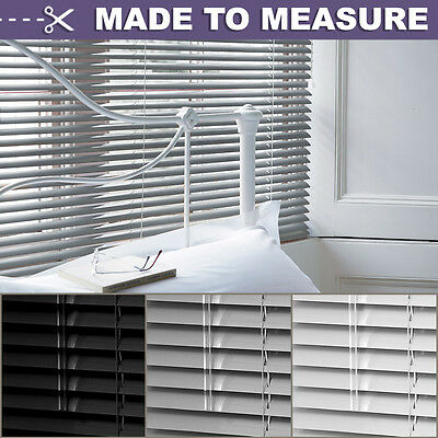 Made To Measure Aluminium Metal Venetian Blinds -Black/silver/white - Many Sizes