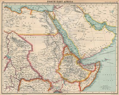 NORTH-EAST AFRICA & ARABIA. Anglo-Egyptian Sudan, Trucial Oman &c 1924 old map