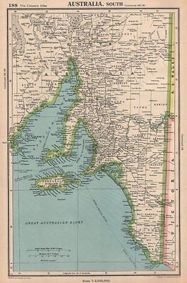 SOUTH AUSTRALIA shows counties Spencer Gulf of St Vincent. BARTHOLOMEW 1944 map