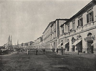 MESSINA. On the marina. Italy 1895 old antique vintage print picture