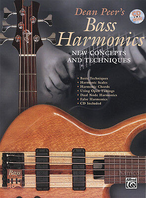 Bass Harmonics : Bass Guitar TAB Music Book/CD New Concepts & Techniques